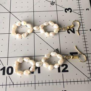 Fashion Jewelry Jewelry - Fresh water pearl dangle wired earrings